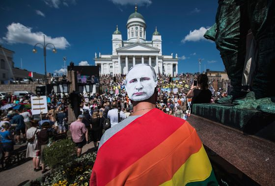 Finns Take to the Streets to Protest Amid Trump-Putin Meeting