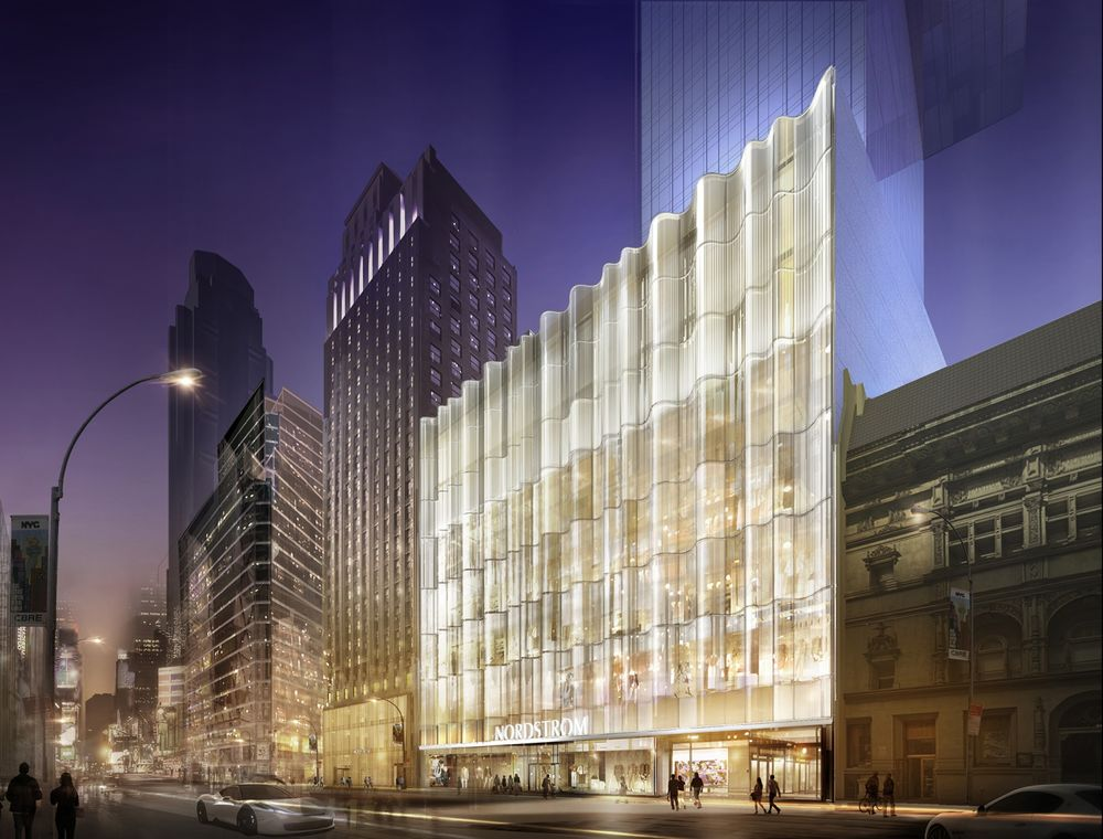 5669830dd Rendering of the Nordstrom store coming to West 57th street in New York.