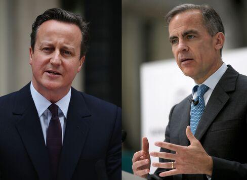 David Cameron And Mark Carney