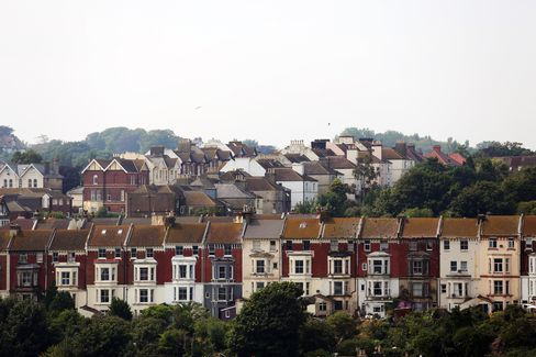 Rows of Houses Overlook the Town of Hasting
