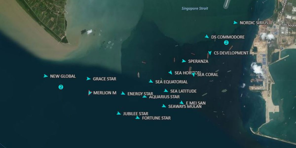 Oil Tankers Hoarding Fuel Are Anchored Off Singapore Ahead of New Shipping Rules
