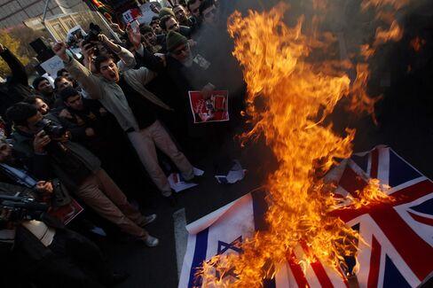 Iran Protesters Storm U.K. Embassy as Diplomatic Spat Grows
