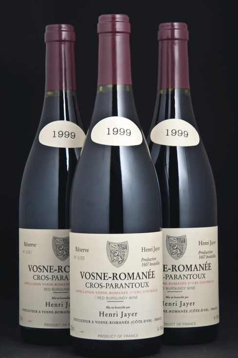 Bottles of Vosne-Romanee