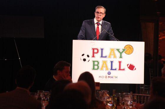 Quants Play Elliptical Golf, Toast Ex-Baltimore Raven JohnUrschel at Math Gala