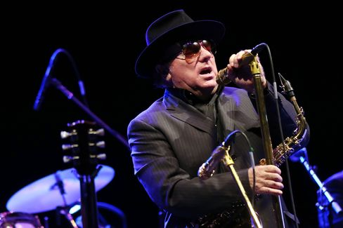 Irish blues and rock singer Van Morrison performs in Paris on September 14, 2012