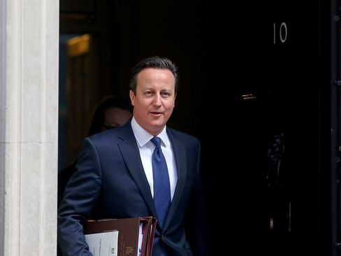U.K. Prime Minister David Cameron at 10 Downing Street in London.
