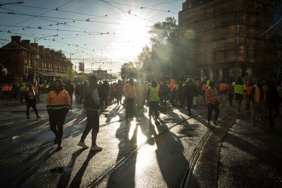Anti-Vaccination Protests Force Melbourne Construction Halt