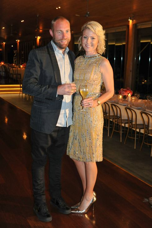 Troy and Nicki Tindill at the dinner held for Sydney designer Collette Dinnigan.