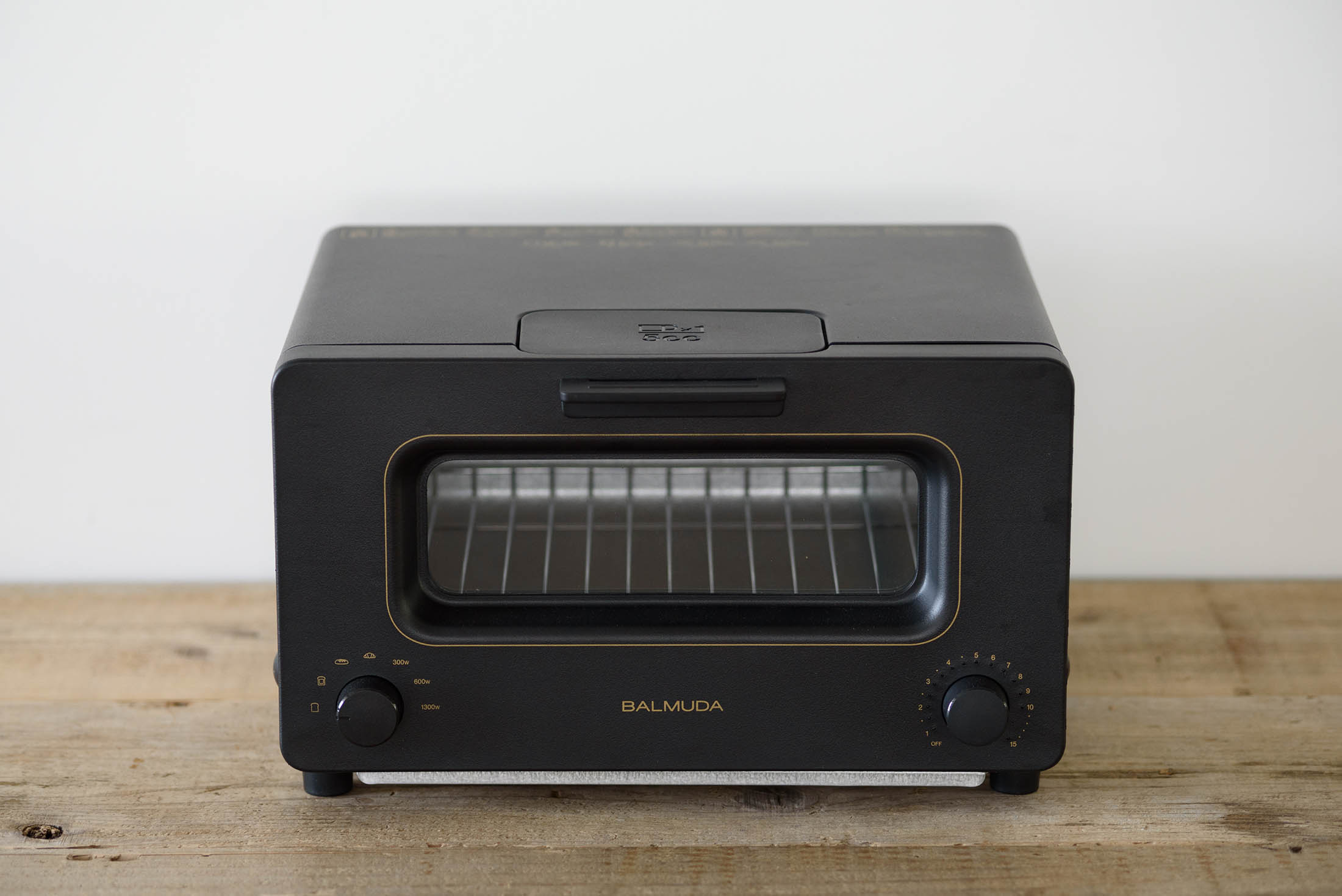 The Balmuda toaster looks ordinary on the outside.