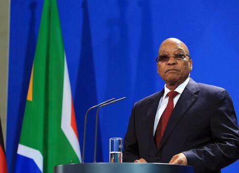 Germany's Chancellor Angela Merkel Meets South Africa's President Jacob Zuma