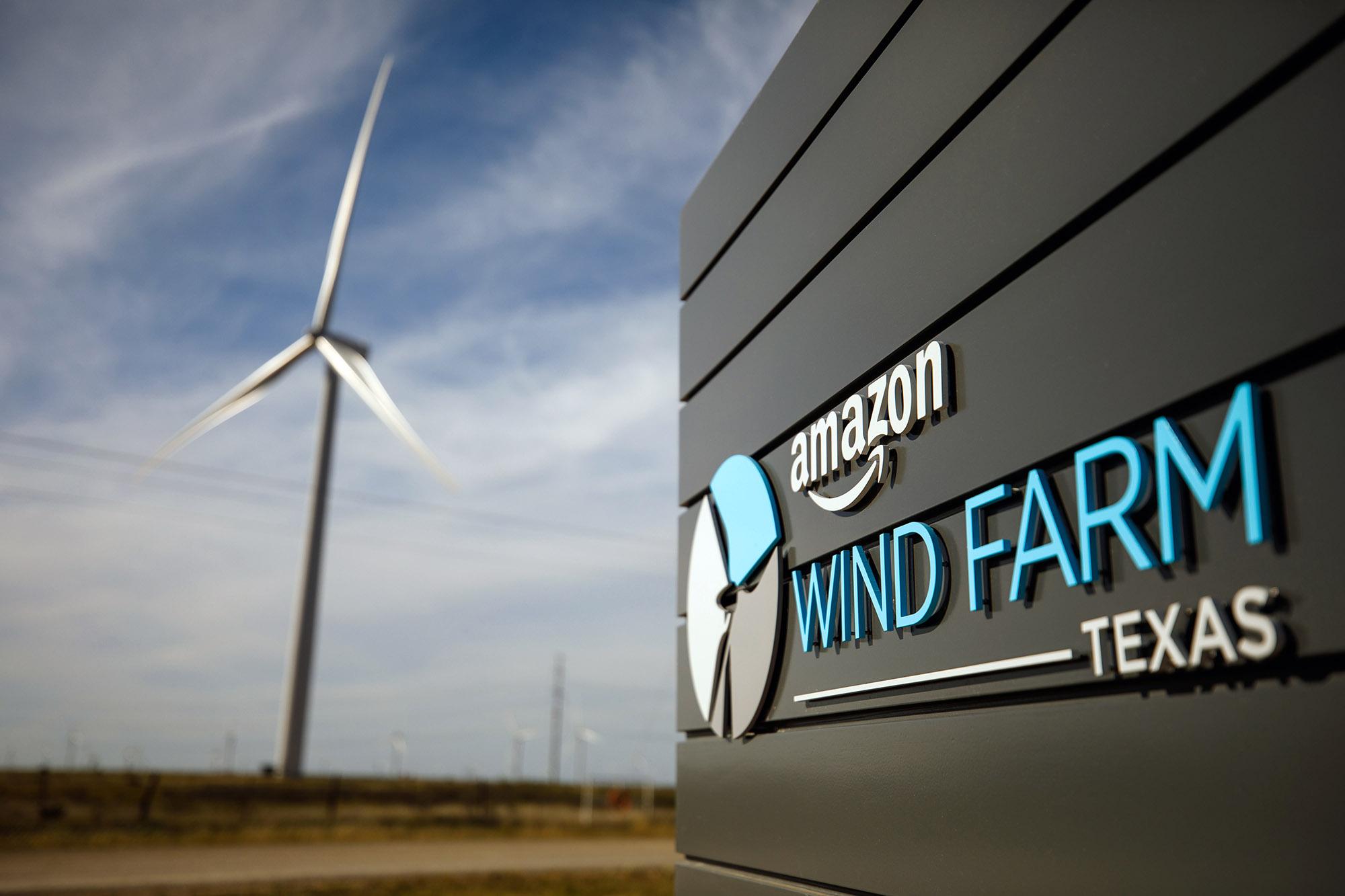 Amazon Wind Farm Texas.