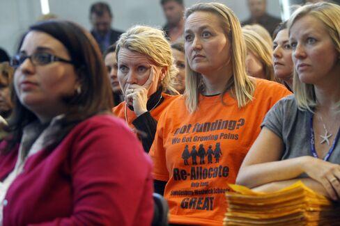 Teachers Listen to New Jersey's Christie