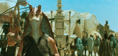 Jar Jar Binks, perhaps the least popular character in the Star Wars movies that will be available online for the first time.