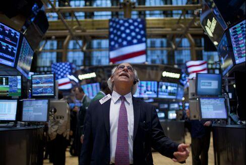 Dow Average Surges to Record as Profits Stoke Four-Year Rebound
