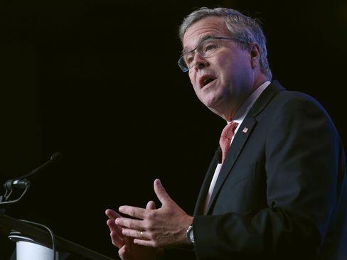 Former Florida Gov. Jeb Bush speaks at the Washington Marriott Wardman Park Hotel, November 20, 2014 in Washington, DC.