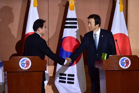 Japan And South Korea News Conference On 'Comfort Women'