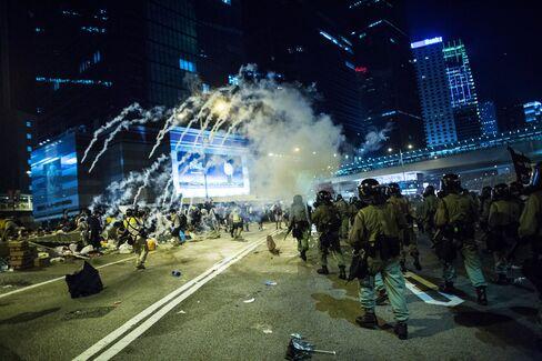Police And Tear Gas