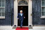 Boris Johnson prepares to greet Sebastian Pinera, Chile's president, in London on Sept. 10.
