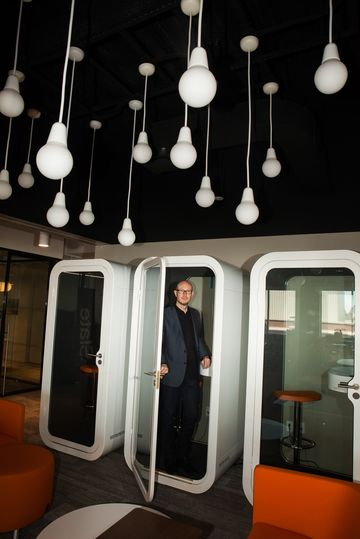 Panoply CCO Andy Bowers at their offices in Brooklyn, NY.