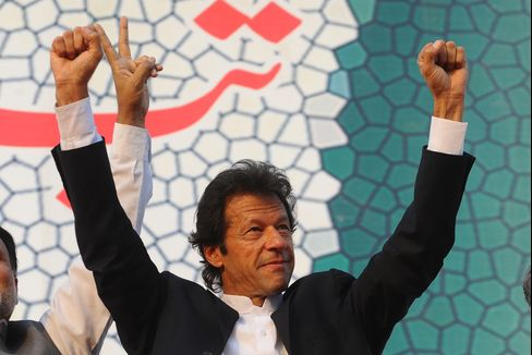 Pakistani politician and former cricketer Imran Khan