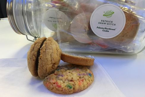 The sprinkledoodle and others in the Cookies for Kids' Cancer cookie jar.