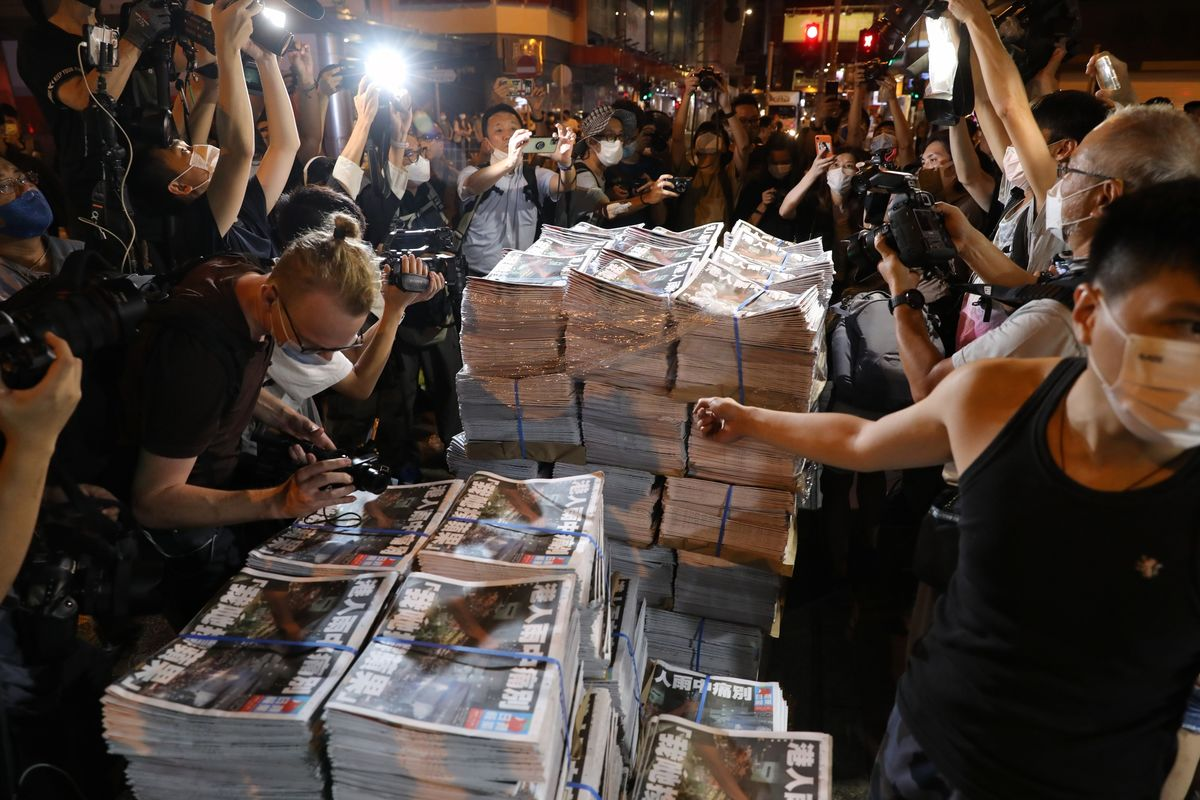 U.S. and Allies Condemn Crackdown on Hong Kong's Apple Daily