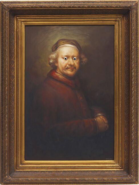 """Banksy's """"Rembrandt"""" (2009)"""