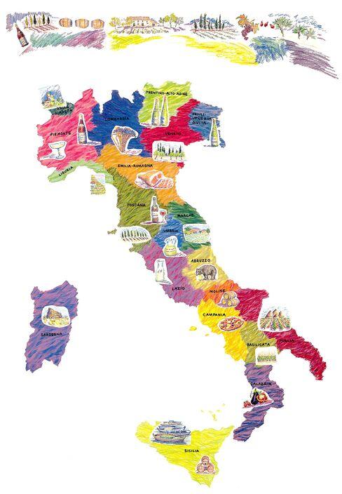 Italy's Wine Map