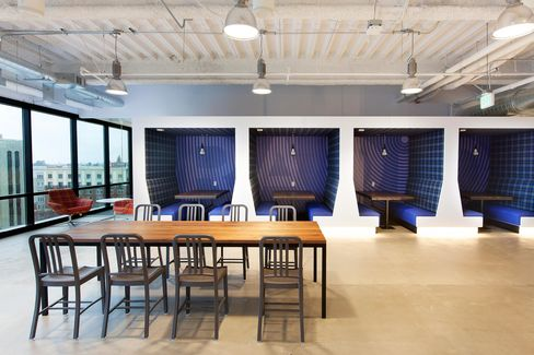 Pandora's new office space in Oakland, Calif.