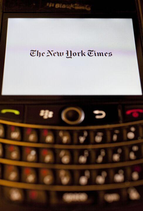 New York Times Scraps Its Newspaper App for BlackBerry Phones