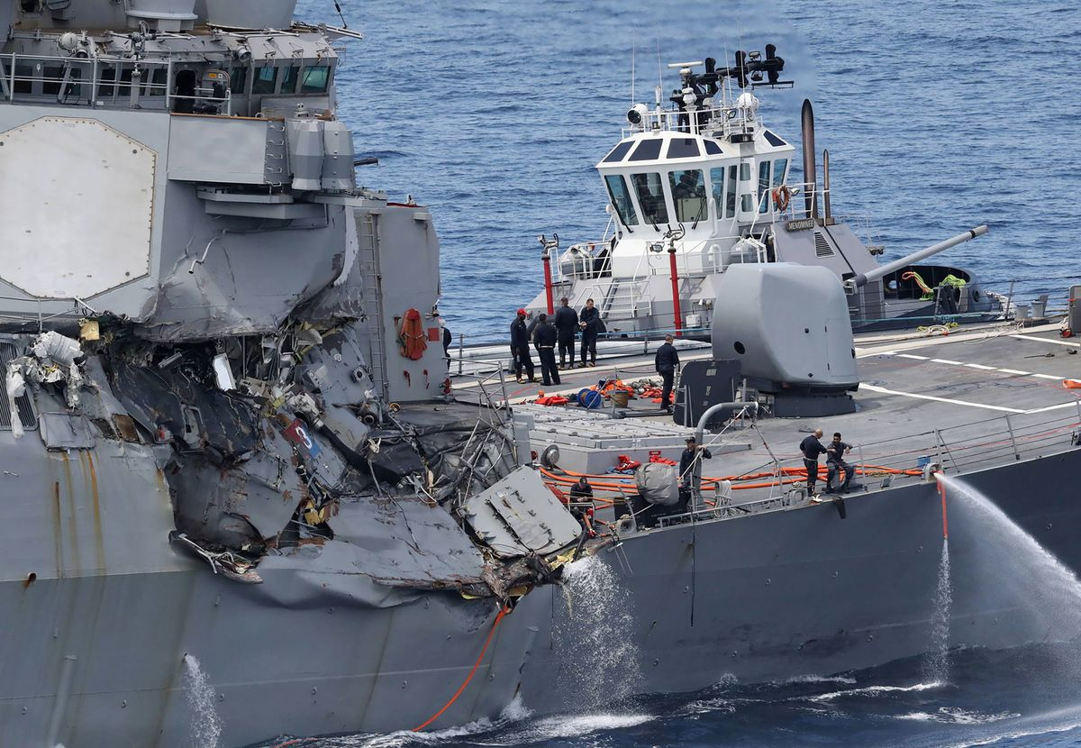 U.S. Navy Filing Homicide Charges Against 5 Officers After Ship Collisions