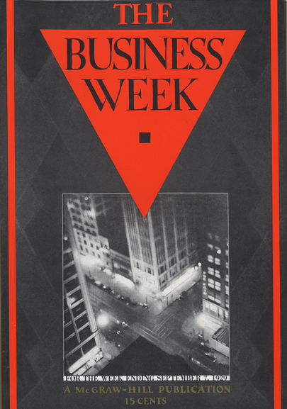 A replica of the first issue of 'The Business Week'