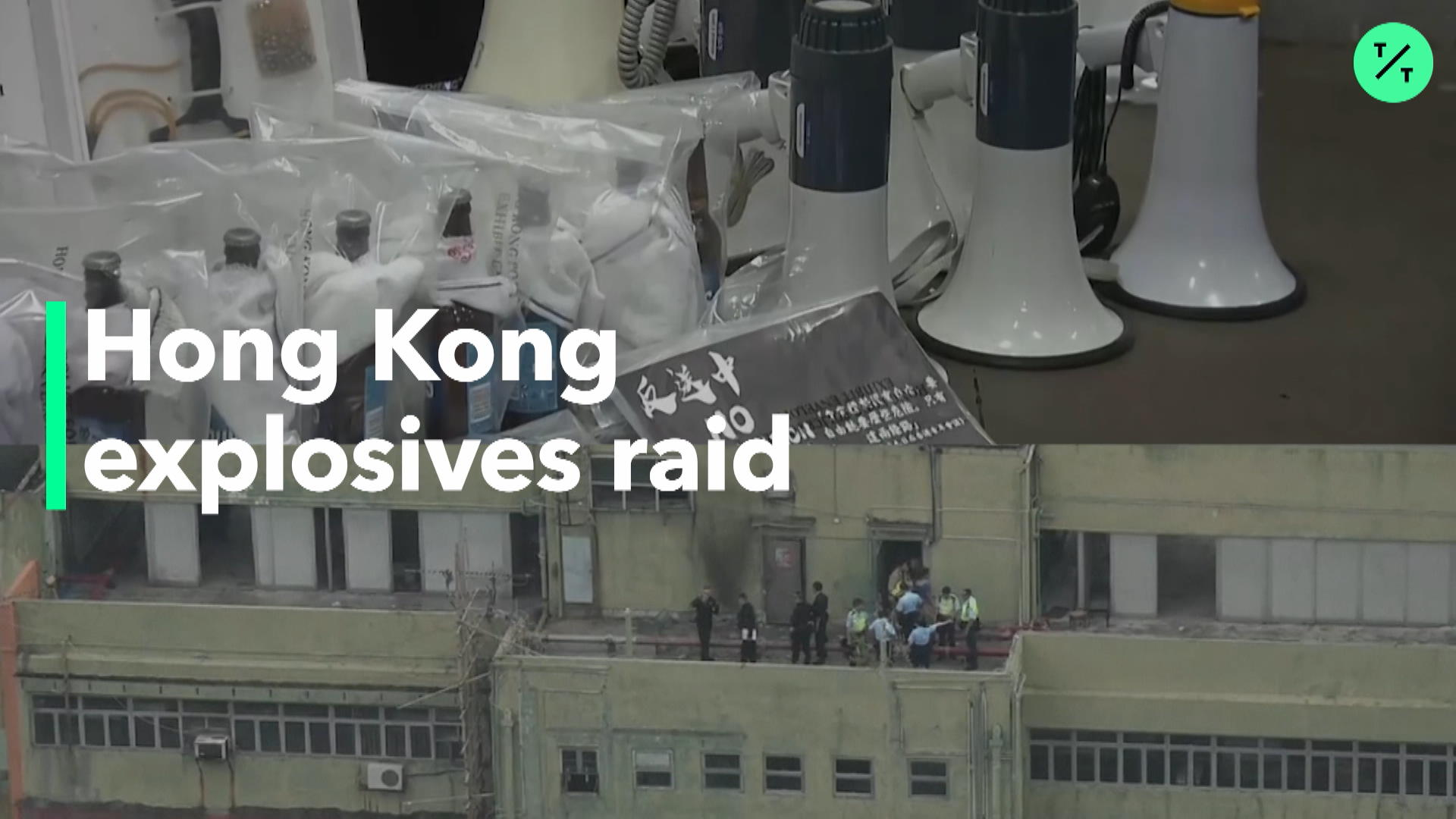 Explosives Seized Ahead of HK Protest