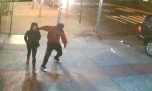 Surveillance footage from January, showing a 24-year-old woman attacked in Manhattan's Chelsea neighborhood.