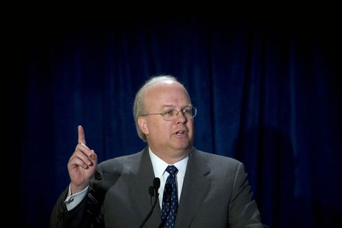 Rove Biggest Super-PAC Loser in Cash Gusher Trump Calls a Waste