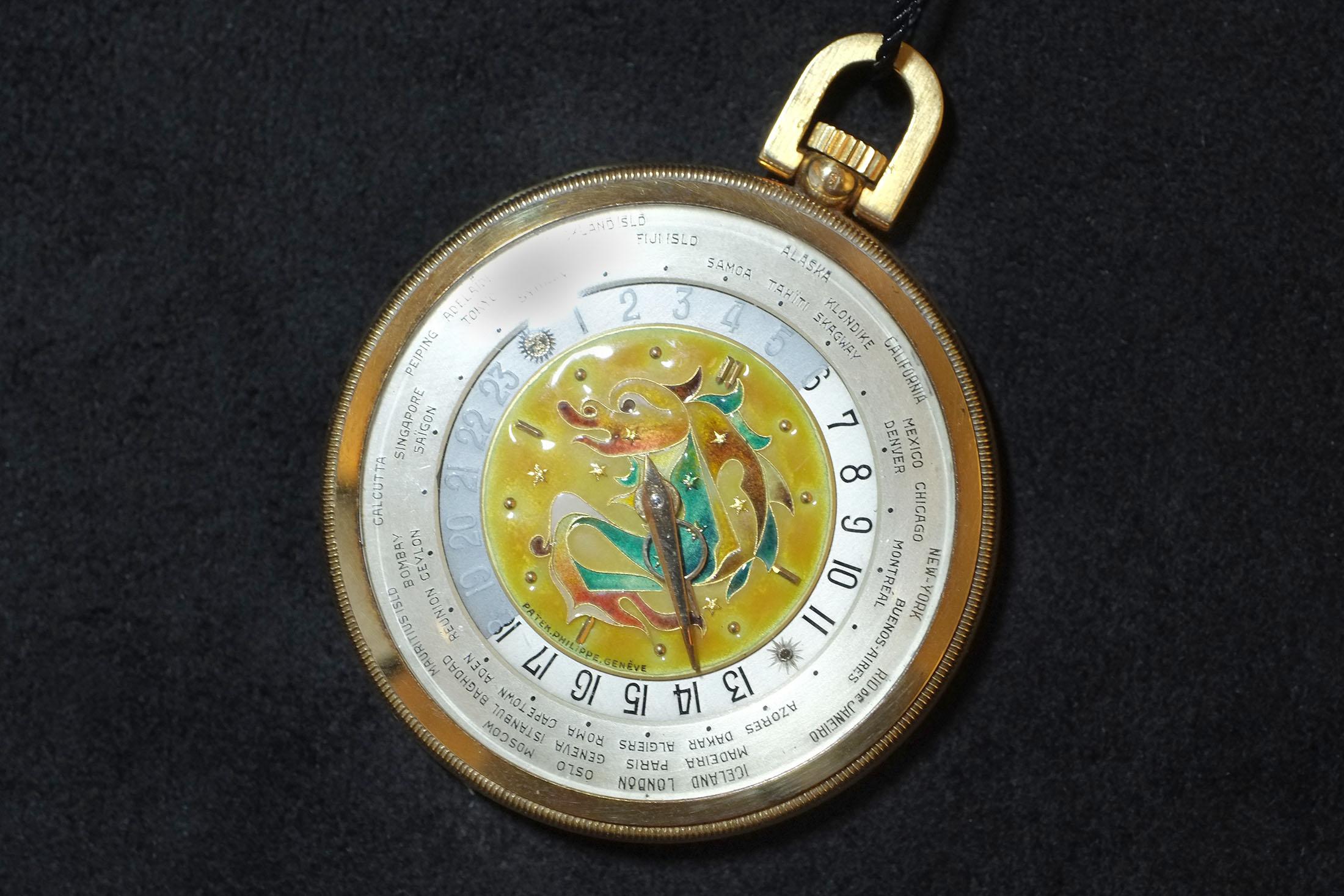 Patek Philippe Dragon Enamel Pocket Watch (Lot 164)