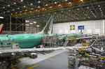 737 Max airplanes at Boeing's manufacturing facility in Renton, Washington.