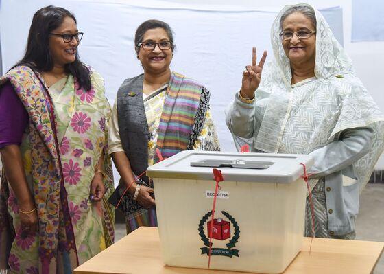 Landslide Victory for Bangladesh Ruler in Violence-Hit Polls
