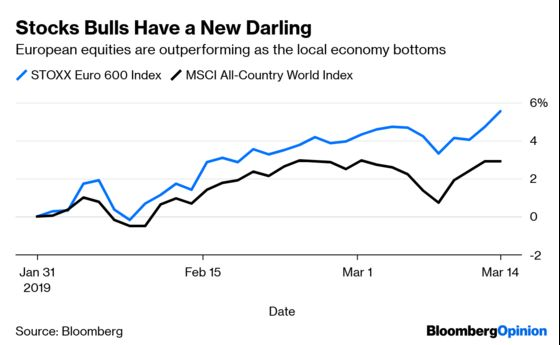 Stock Bulls Take An Unlikely Shine to Europe