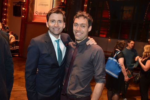 Two kings: David Tennant (Richard II) and Alex Hassell (Henry V)