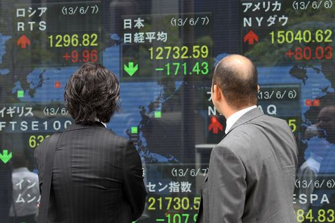 Japan Stocks Pare Drop Before Government Pension Fund Briefing