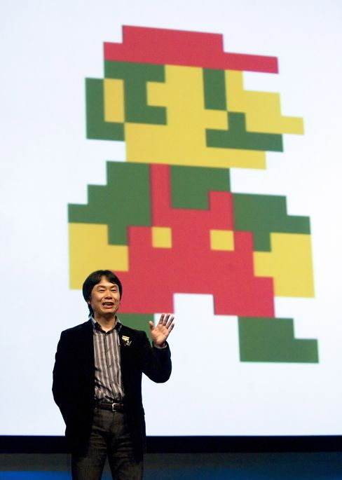 Shigeru Miyamoto, creator of Mario, speaking in San Francisco in 2007.