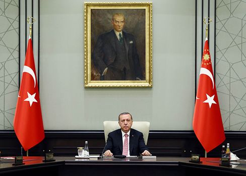 Erdogan chairs a meeting of the National Security Council in Ankara, on July 20.
