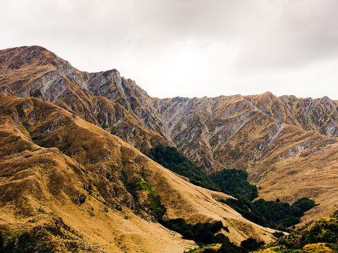 The landscape near Queenstown in New Zealand