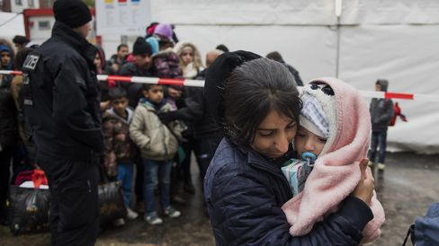 Refugees seek asylum in Berlin.