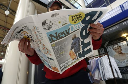 Trinity Mirror Plc Launches First Edition Of The New Day Newspaper