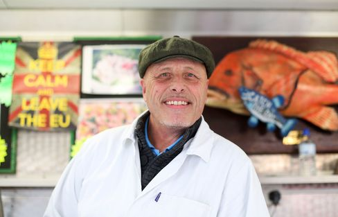 Dave Crosbie, a fishmonger and stallholder at Romford market.