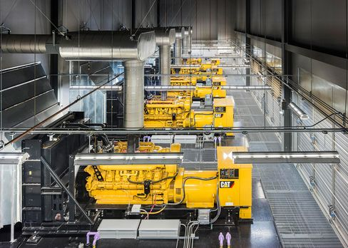 Standby power comes from 18 generators that can crank out 2.5megawatts each