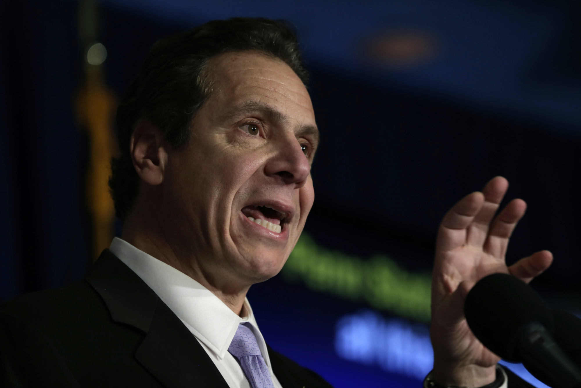 New York Governor Andrew Cuomo Makes An Announcement