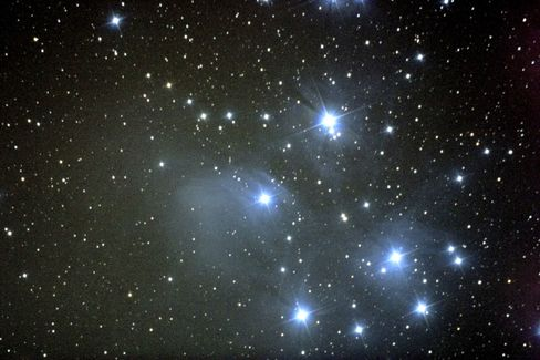 The Pleiades, as seen from Taurus, Germany